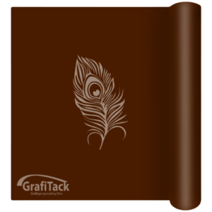 P166 Dark Brown Glossy Grafitack Promo Vinyl