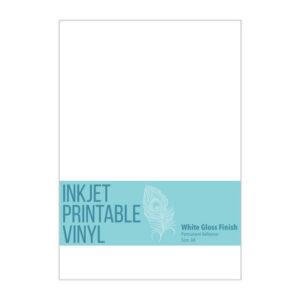 Printable Vinyl A4 for Inkjet Printers - Gloss