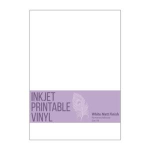 Printable Vinyl A4 for Inkjet Printers - Matt