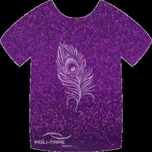 424 Purple PoliFlex Pearl Glitter Heat Transfer Vinyl