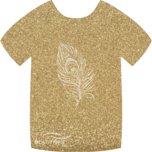 425 Light Gold PoliFlex Pearl Glitter Heat Transfer Vinyl