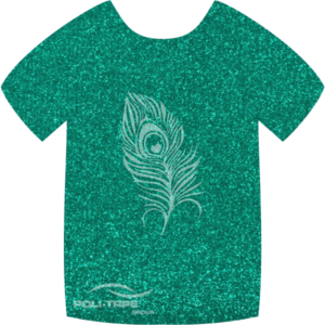 427 Emerald PoliFlex Pearl Glitter Heat Transfer Vinyl