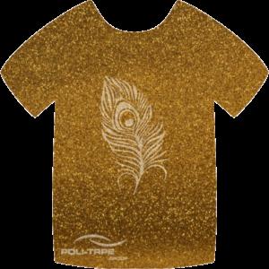 429 Dark Gold PoliFlex Pearl Glitter Heat Transfer Vinyl
