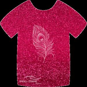432 Hot Pink PoliFlex Pearl Glitter Heat Transfer Vinyl