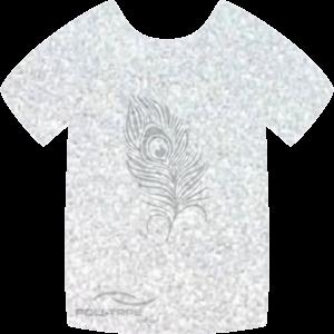 444 White PoliFlex Pearl Glitter Heat Transfer Vinyl