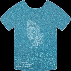 445 Sky Blue PoliFlex Pearl Glitter Heat Transfer Vinyl
