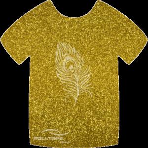 451 Gold PoliFlex Pearl Glitter Heat Transfer Vinyl
