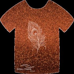 452 Bronze PoliFlex Pearl Glitter Heat Transfer Vinyl
