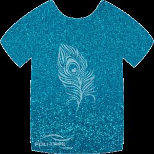 454 Blue PoliFlex Pearl Glitter Heat Transfer Vinyl