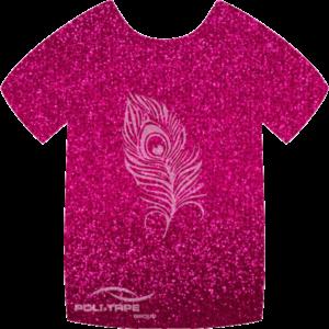 457 Pink PoliFlex Pearl Glitter Heat Transfer Vinyl