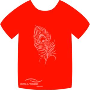 4944 Neon Red PoliFlex Turbo Heat Transfer Vinyl