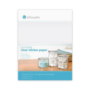 Printable Sticker Paper (Silhouette) - Clear (Inkjet/Laser)