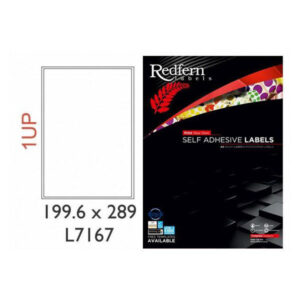 Redfern A4 Sticker Sheets for Laser, Inkjet and Photocopiers