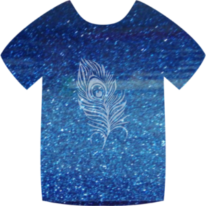 SGL13 Blue Videoflex Pearl Glitter Heat Transfer Vinyl