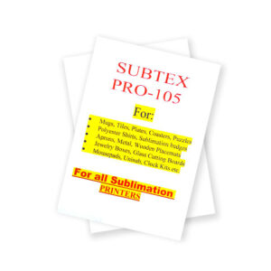 Subtex Pro Sublimation Paper for ALL Sublimation printers 110pages