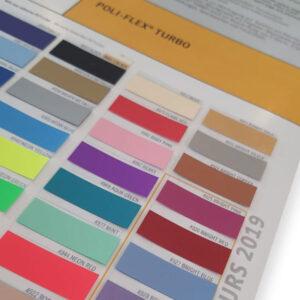 Poliflex Turbo Heat Transfer Vinyl Colour Chart