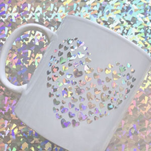 Holographic Glass Flower Adhesive Vinyl